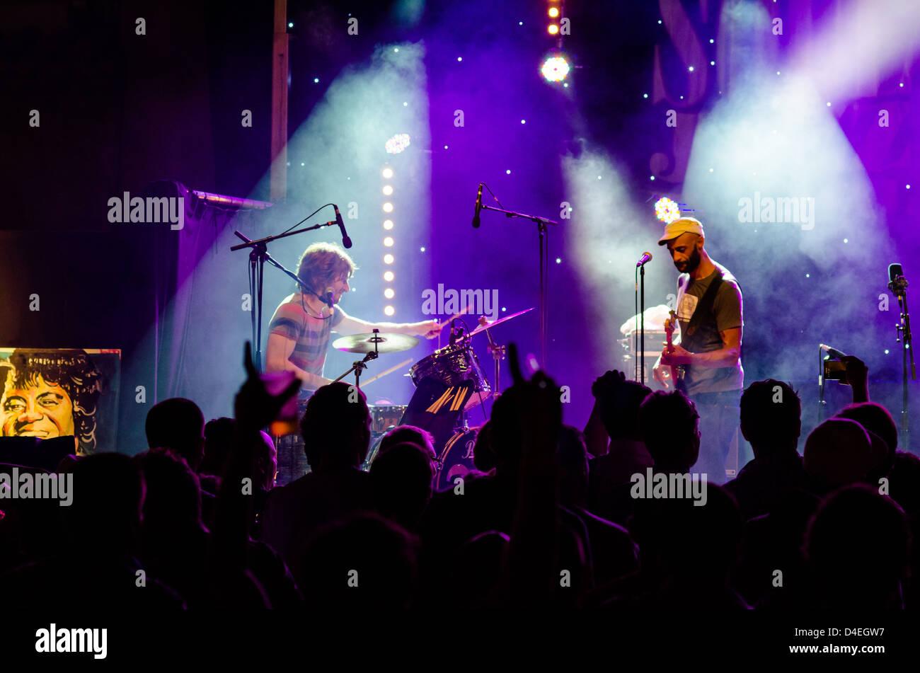 Soul Jazz Festival 2013 at Saint-Paul-Trois-Chateaux, in France. The Fantastics, New Mastersounds, Soul Snatchers, - Stock Image