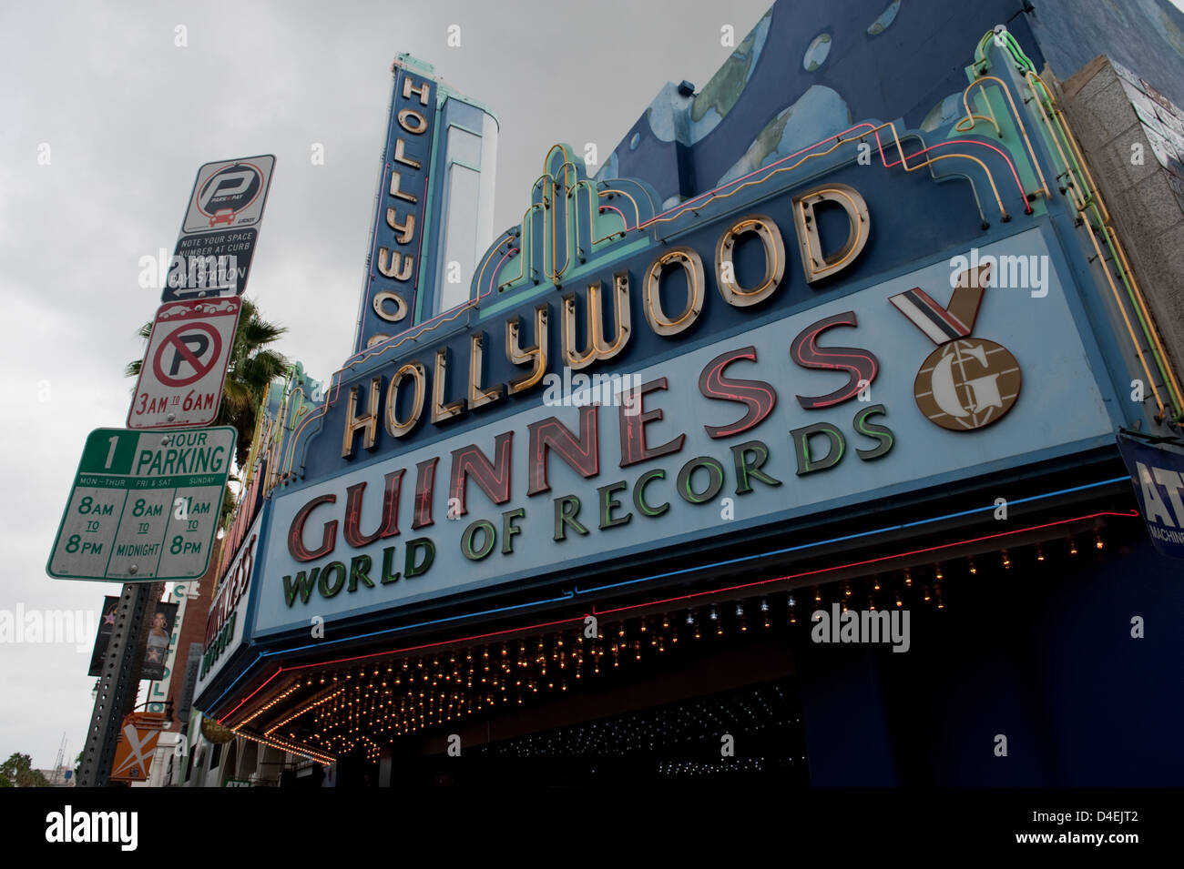 Los Angeles, USA, the entrance to the Hollywood Guinness World of Records Museum - Stock Image