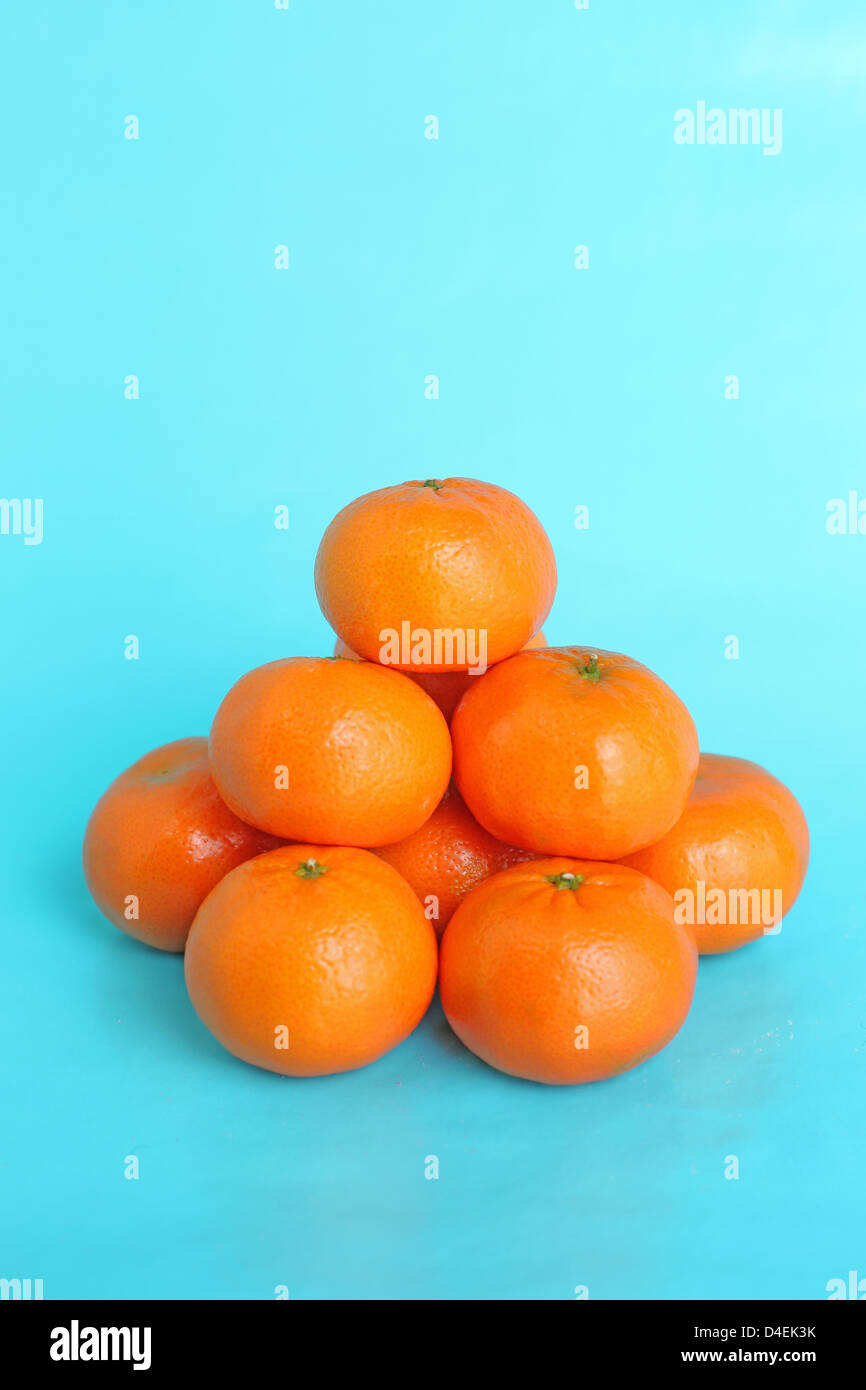 A Pile Of Clementine Cuties Mandarin Oranges