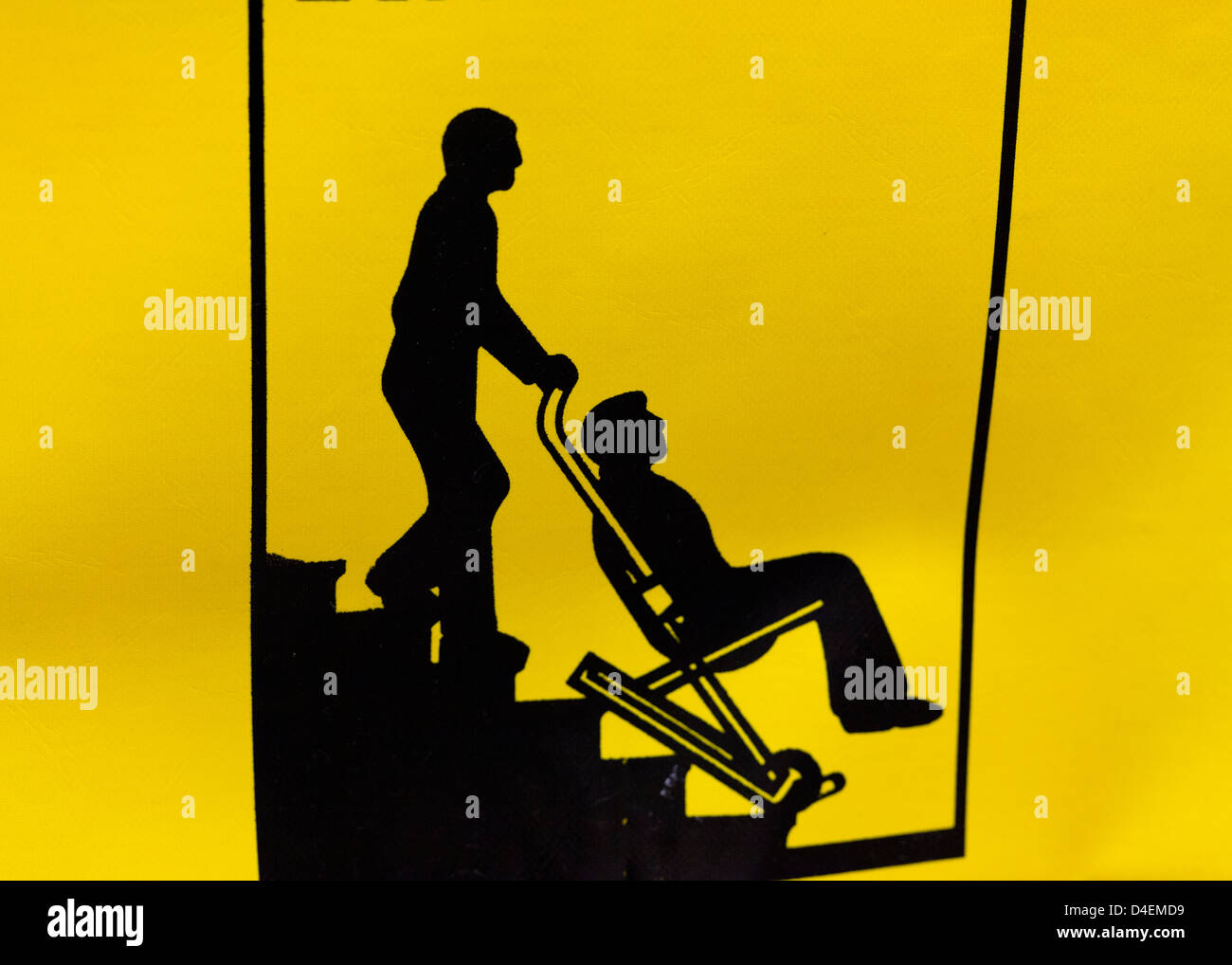 Rescue evacuation chair illustration - Stock Image
