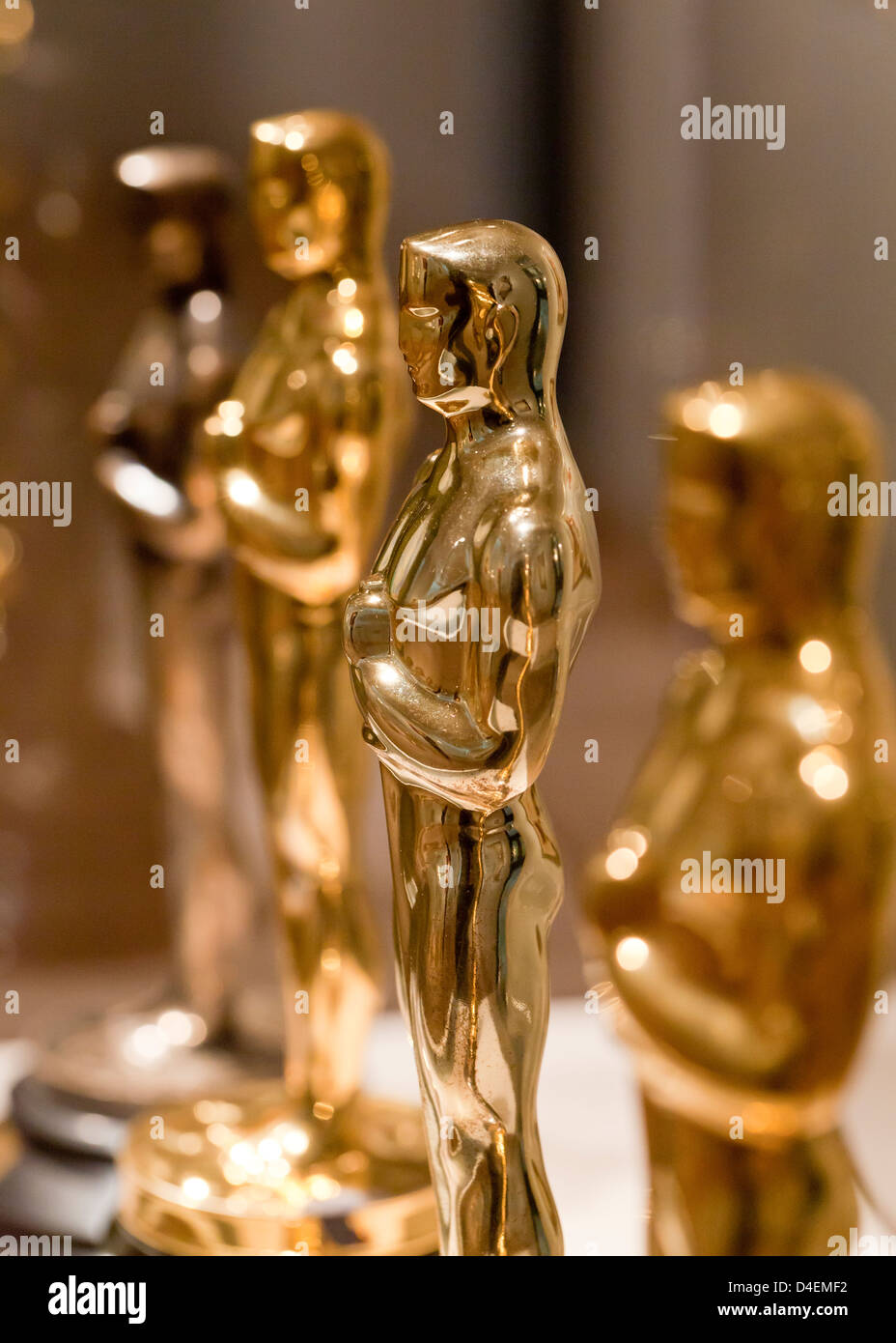 Oscars statuette - Stock Image