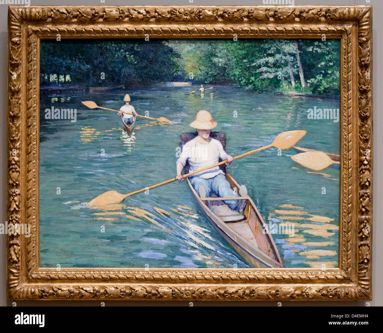 Skiffs by Gustave Caillebotte, 1877 - Stock Image