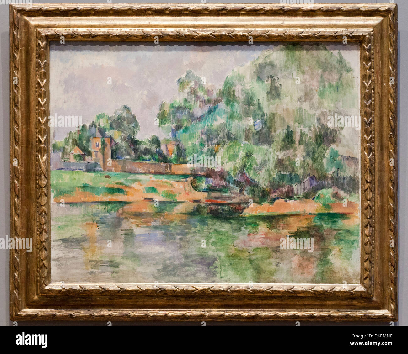 Riverbank by Paul Cezanne, 1895 - Stock Image