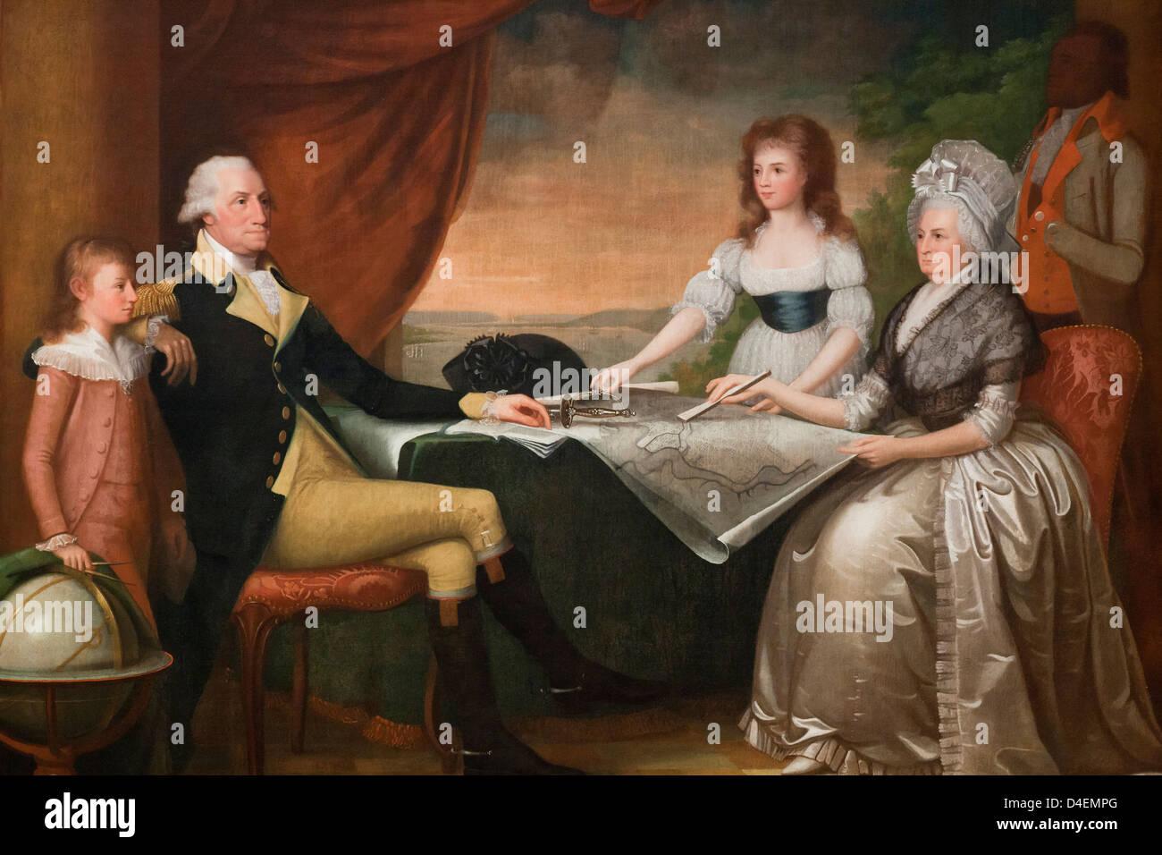 The Washington Family by Edward Savage, 1790 - National Gallery of Art, Washington, DC USA - Stock Image