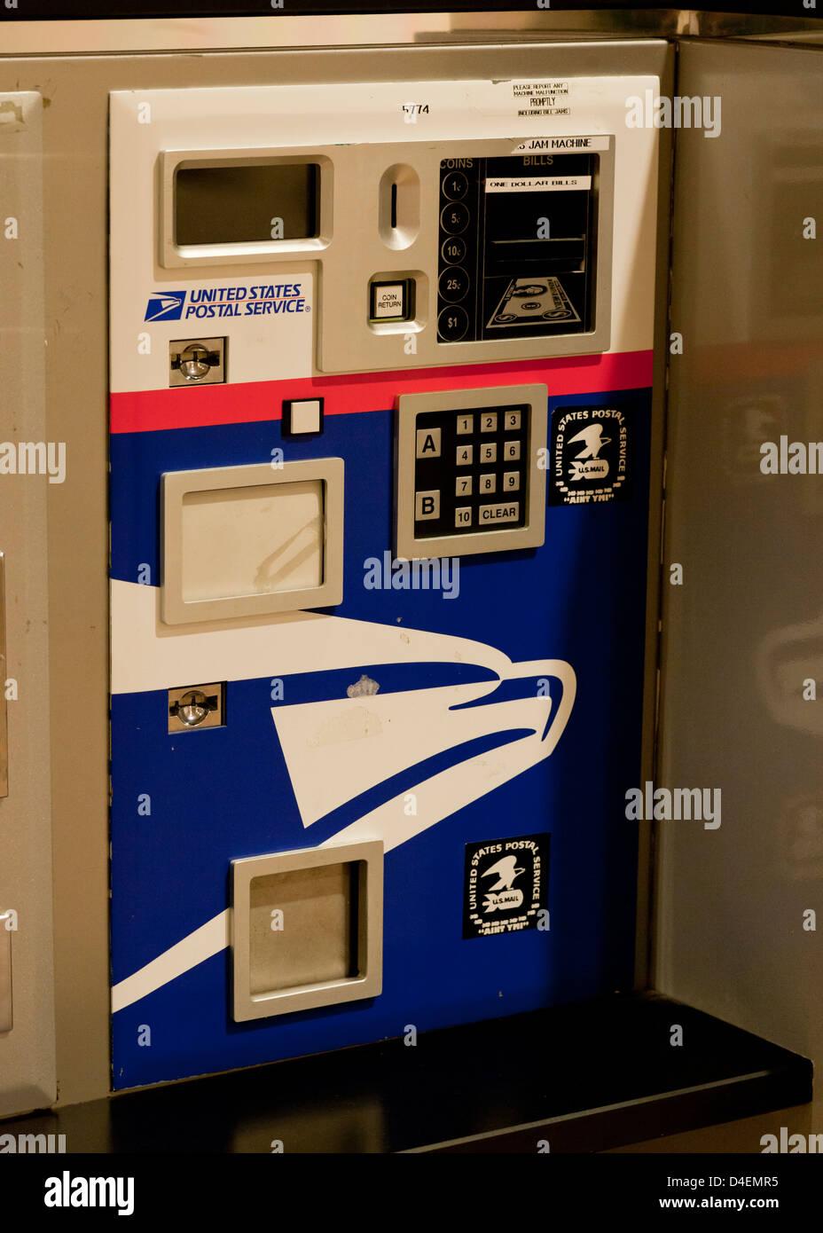 USPS stamp machine - Stock Image