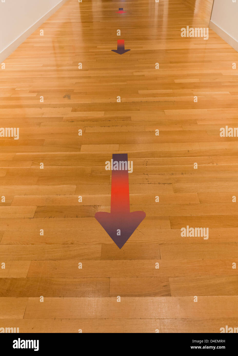 Arrows on floor - Stock Image