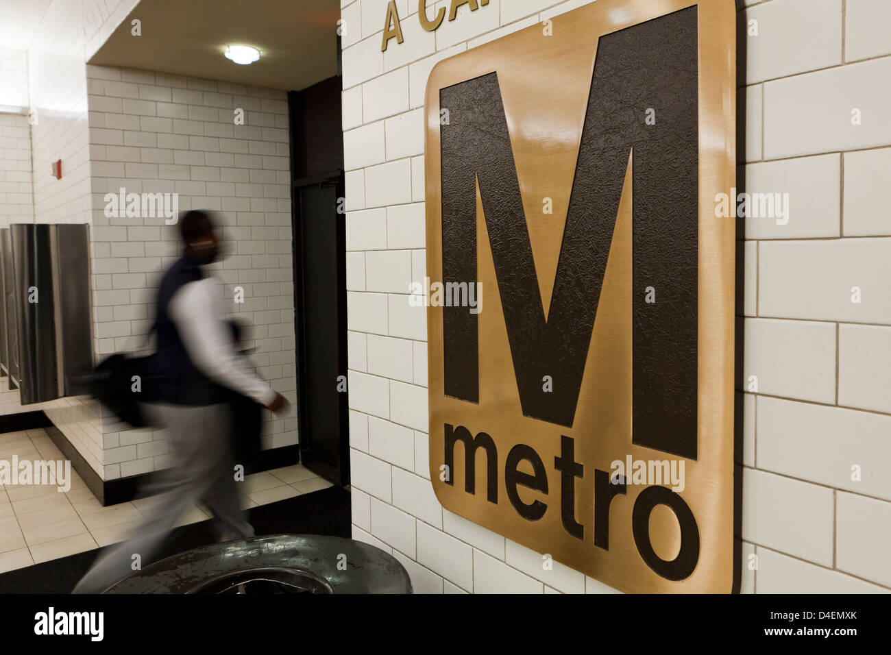 Metro sign - Stock Image