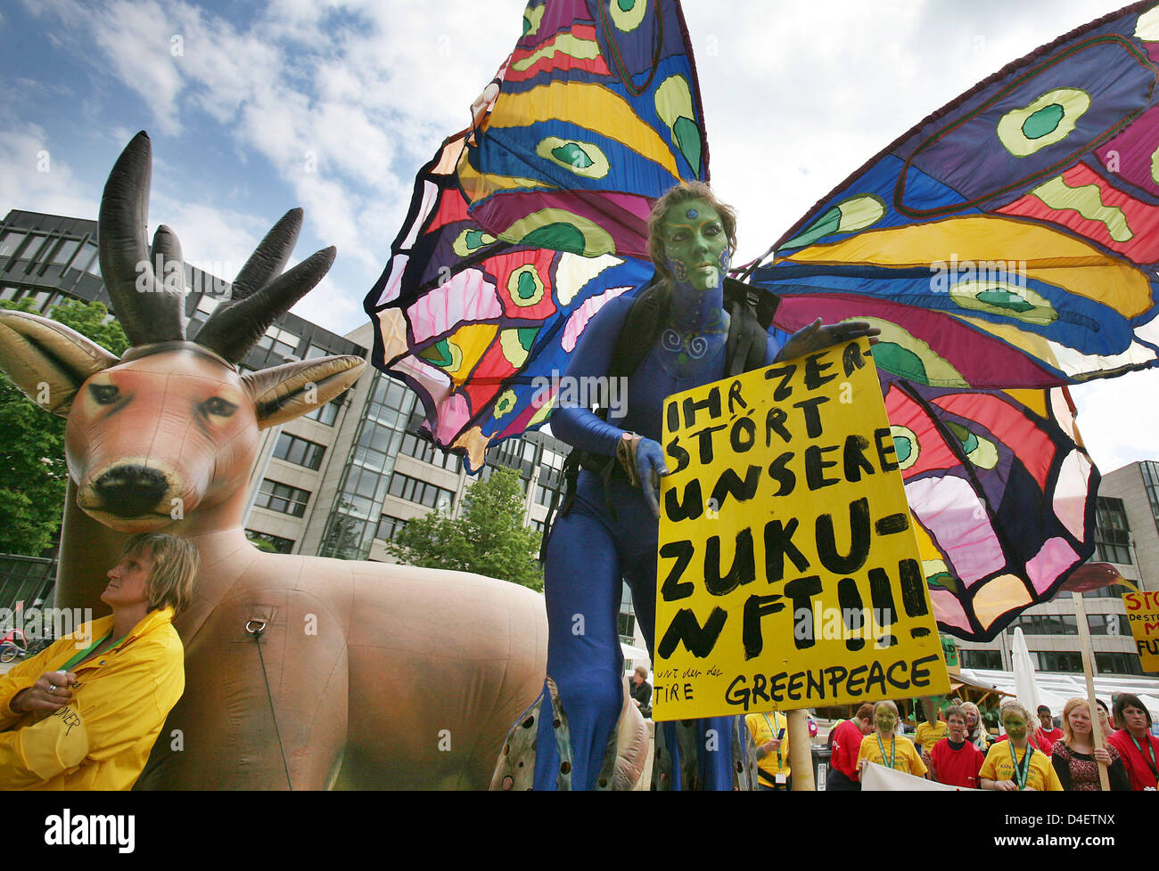 Demonstrators Rally At The UN Convention Of Biological Diversity In Bonn Germany 19 May
