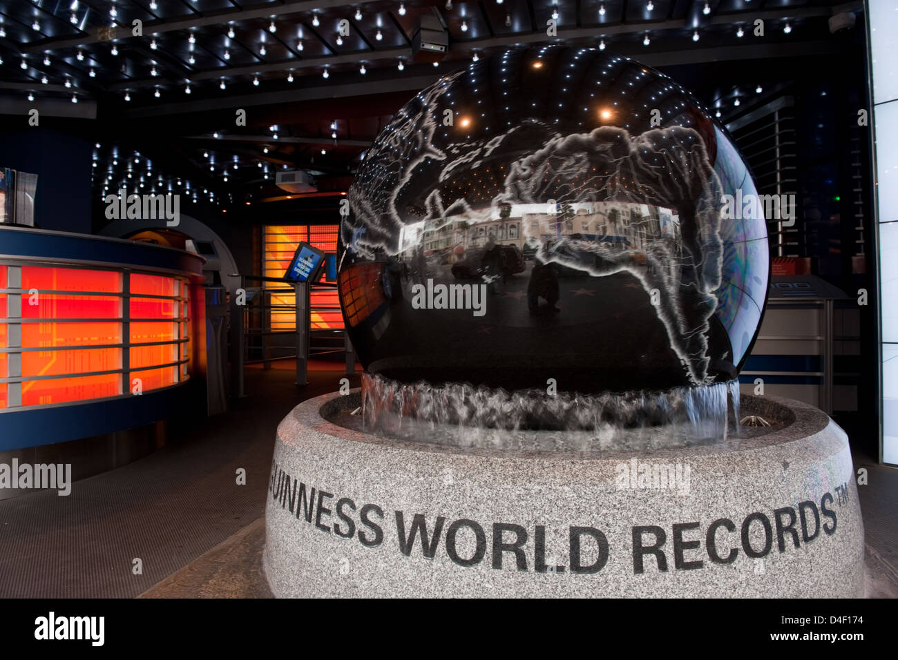 Los Angeles, USA, entrance hall of the Hollywood Guinness World of Records Museum - Stock Image