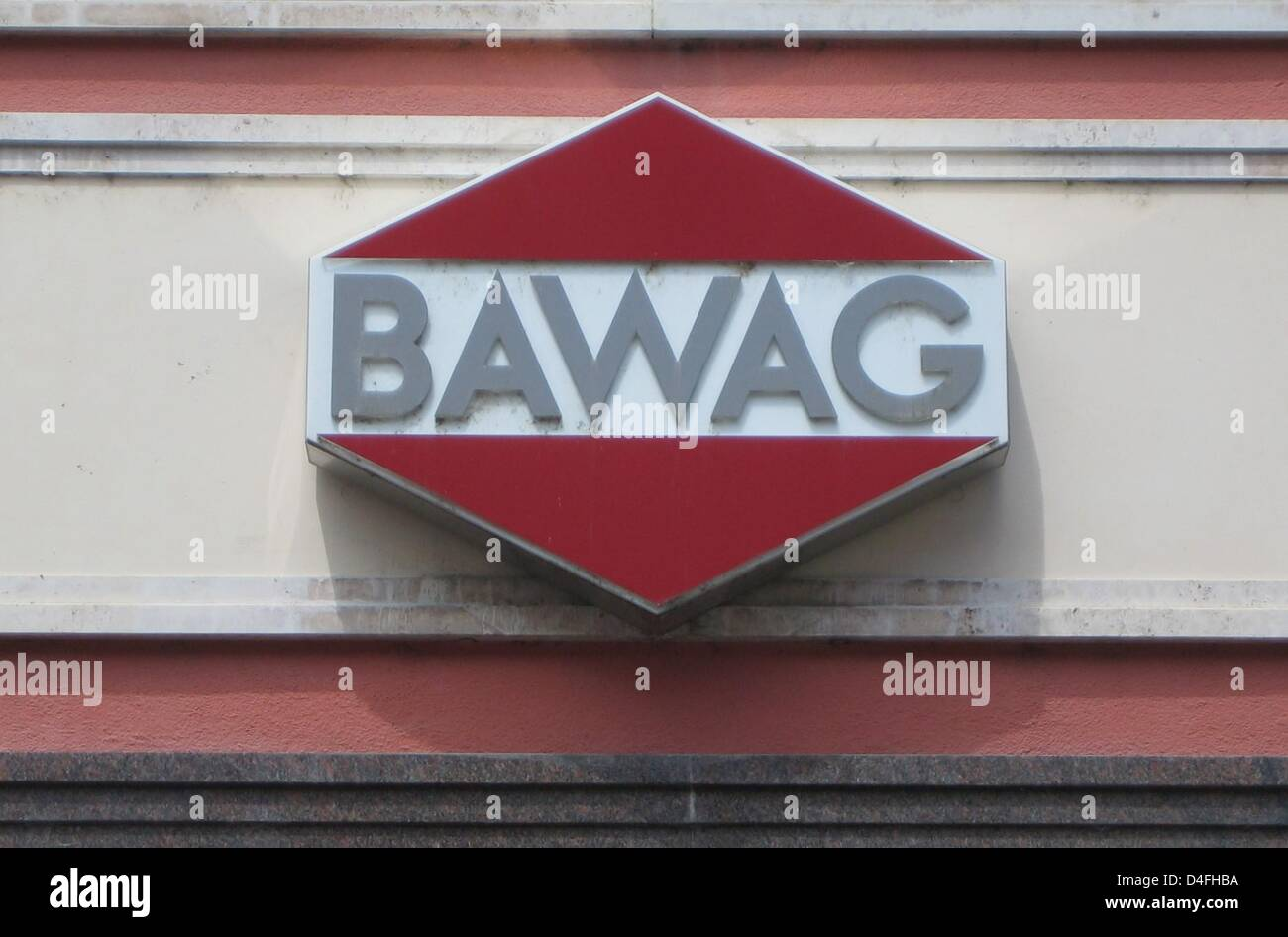 The company logo of Austrian bank BAWAG (Bank fuer Arbeit und Wirtschaft) ('Bank for Work and Economy') - Stock Image