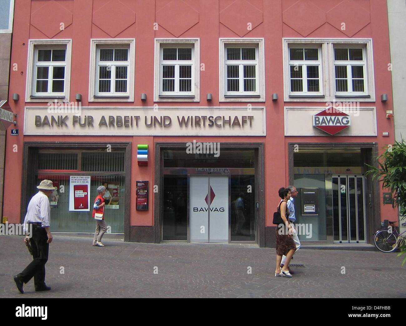 A branch of Austrian bank BAWAG (Bank fuer Arbeit und Wirtschaft) ('Bank for Work and Economy') seen in - Stock Image
