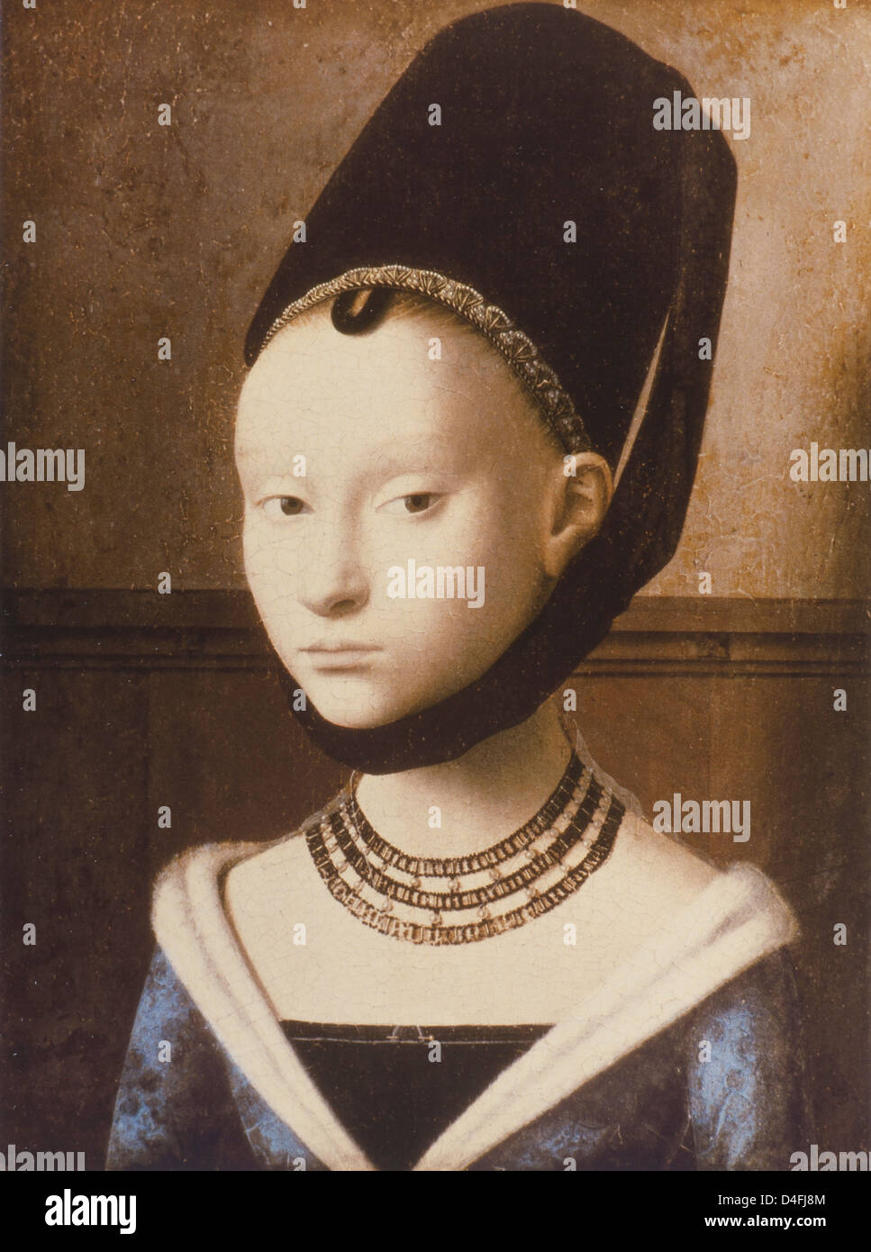 Portrait of a Girl, c. 1446 by Petrus Christus at the Staaliche Museum, Berlin - Stock Image