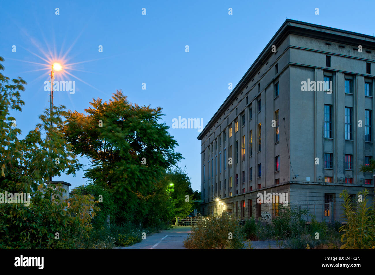 Berlin, Germany, outdoor shot of techno club Berghain at