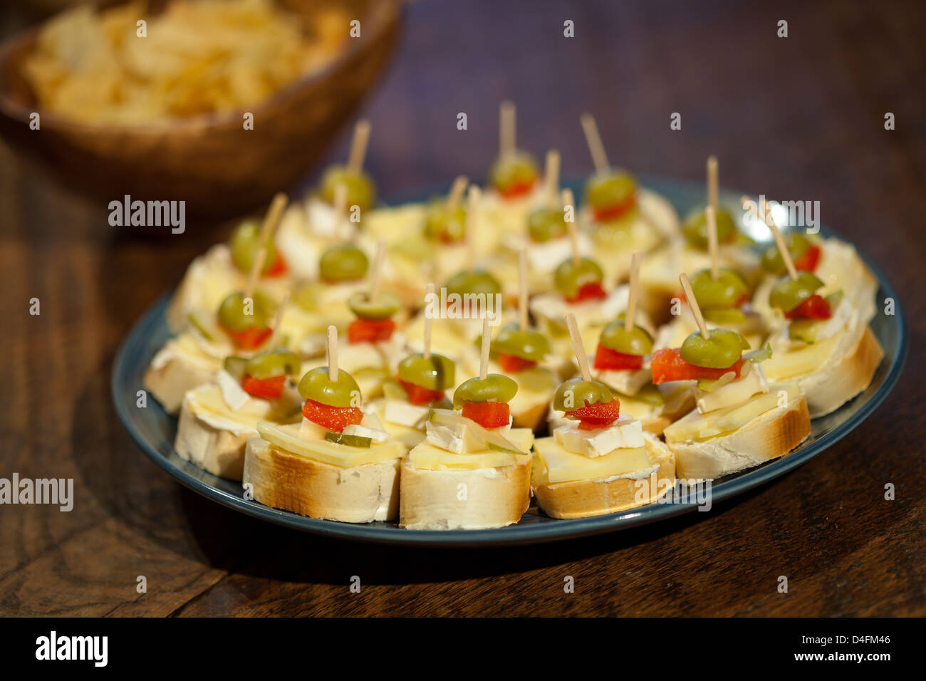 Canapes at party - Stock Image