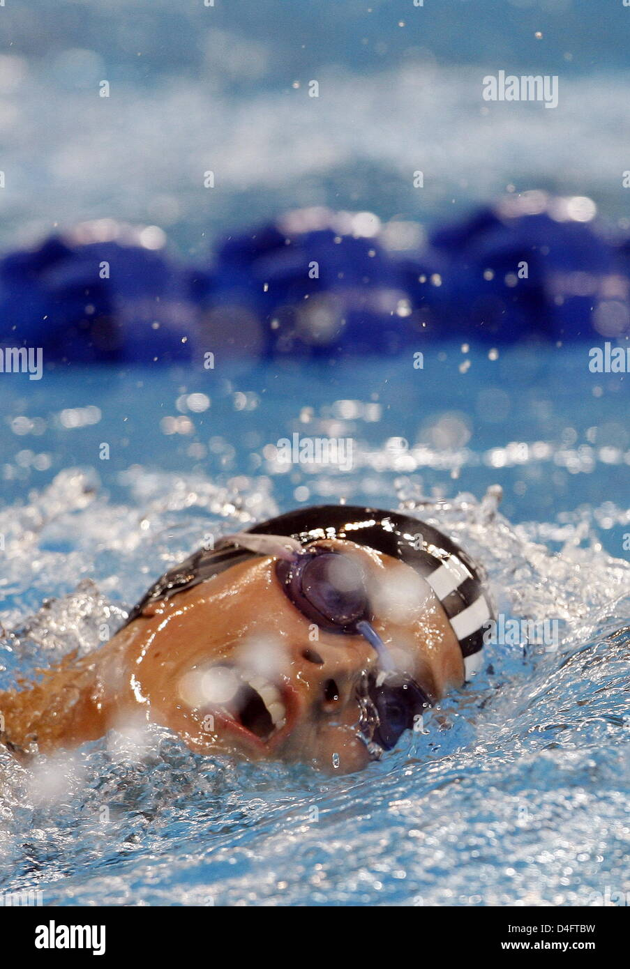 Lena Schoeneborn of Germany competes during the Women's Swimming 200m Freestyle in the Yingdong Natatorium at - Stock Image