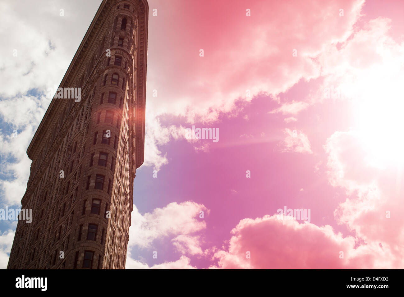 Low angle view of city highrise - Stock Image