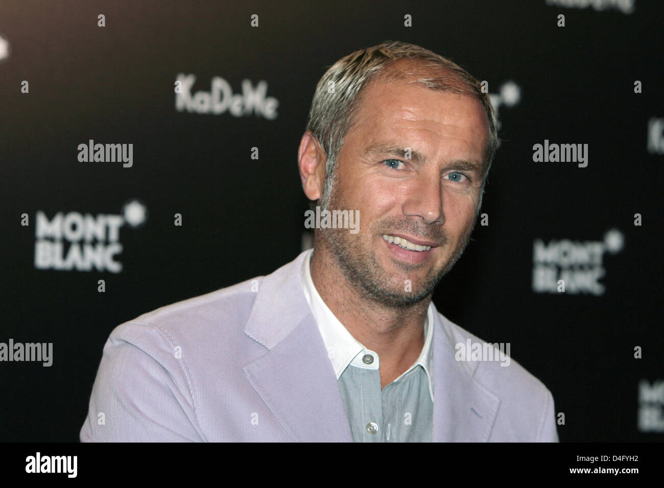 Former Bosnian soccer player Sergej Barbarez arrives during a Montblanc watch presentation at KaDeWe in Berlin, - Stock Image