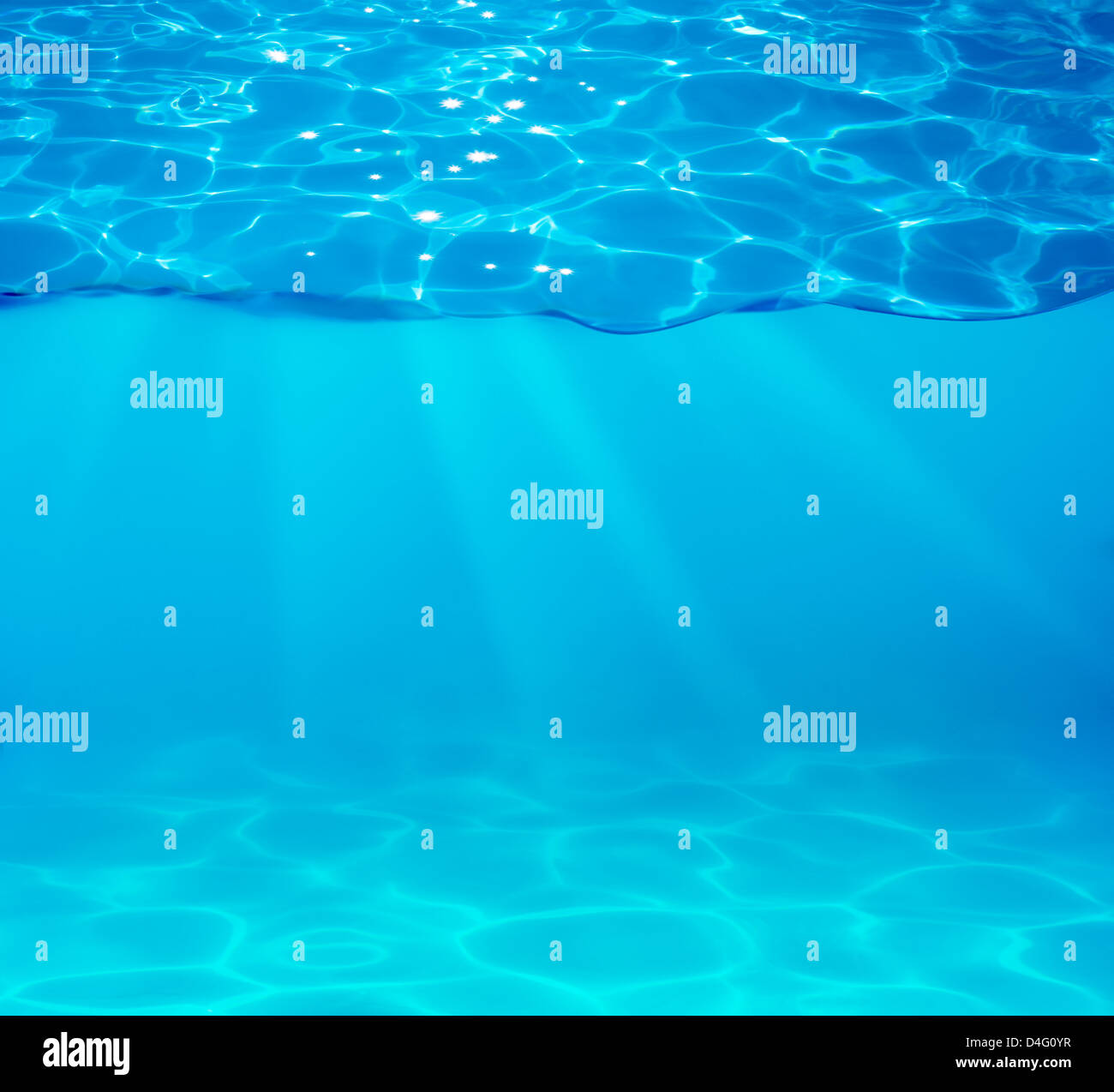 pool water with sparkles on surface - Stock Image