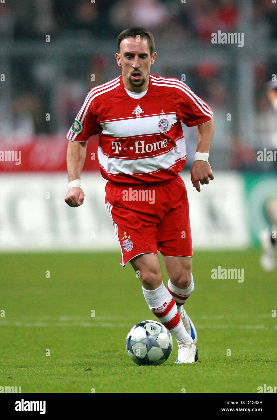 Fc bayern munich player franck ribery is shown in action during the fc bayern munich player franck ribery is shown in action during the german football federations dfb cup vs 1 fc nuremberg at allianz arena in munich voltagebd Images