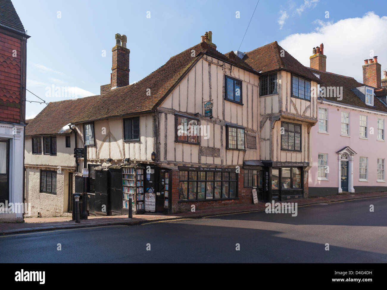 The Fifteenth Century bookshop in Lewes, East Sussex - Stock Image