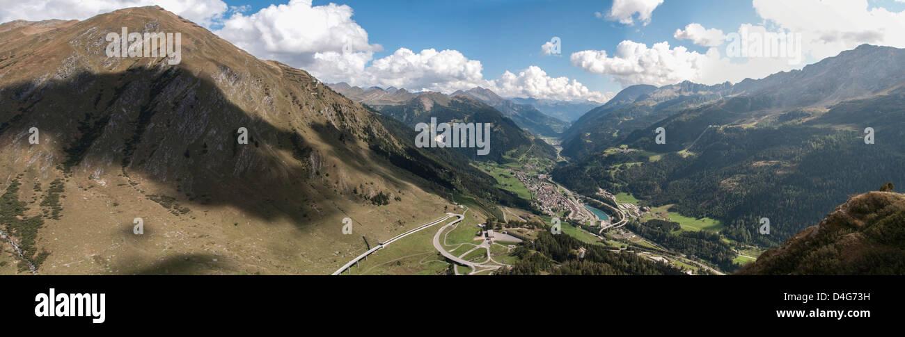 Saint Gotthard Pass, view to south, Switzerland - Stock Image