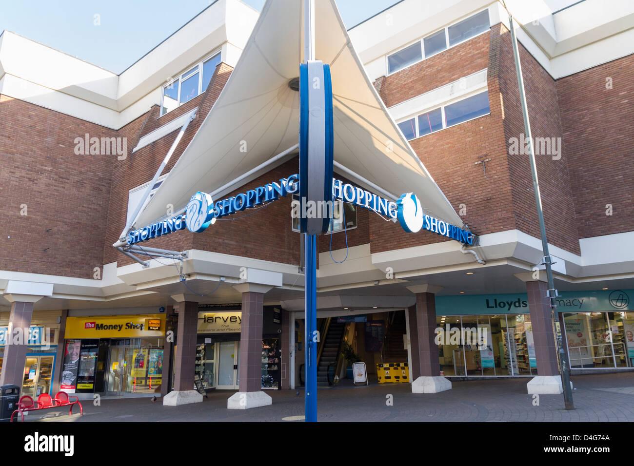 Kidderminster shopping centre - Stock Image