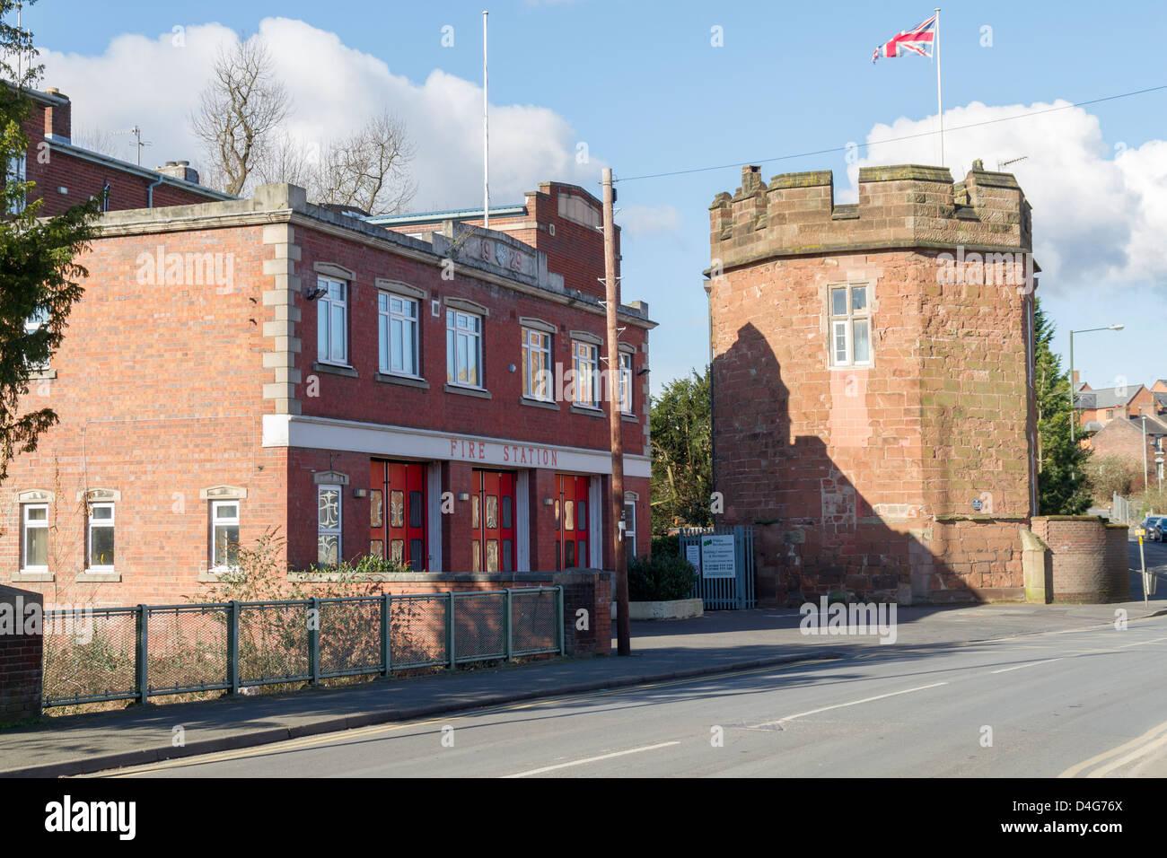 Kidderminster fire station - Stock Image