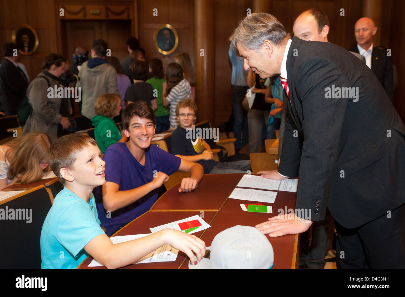 Berlin, Germany, the governing mayor Klaus Wowereit, the SPD, the youth chooses event - Stock Image