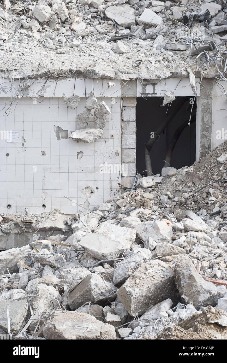 Building Demolition as Sign of Urban Renewal - Stock Image