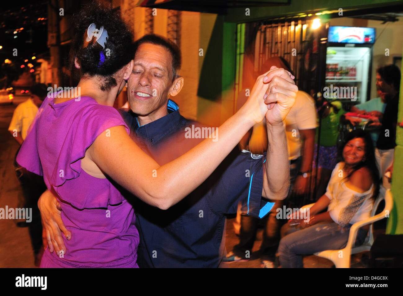 New Year Party .Calle Maturin in MEDELLIN .Department of Antioquia. COLOMBIA - Stock Image