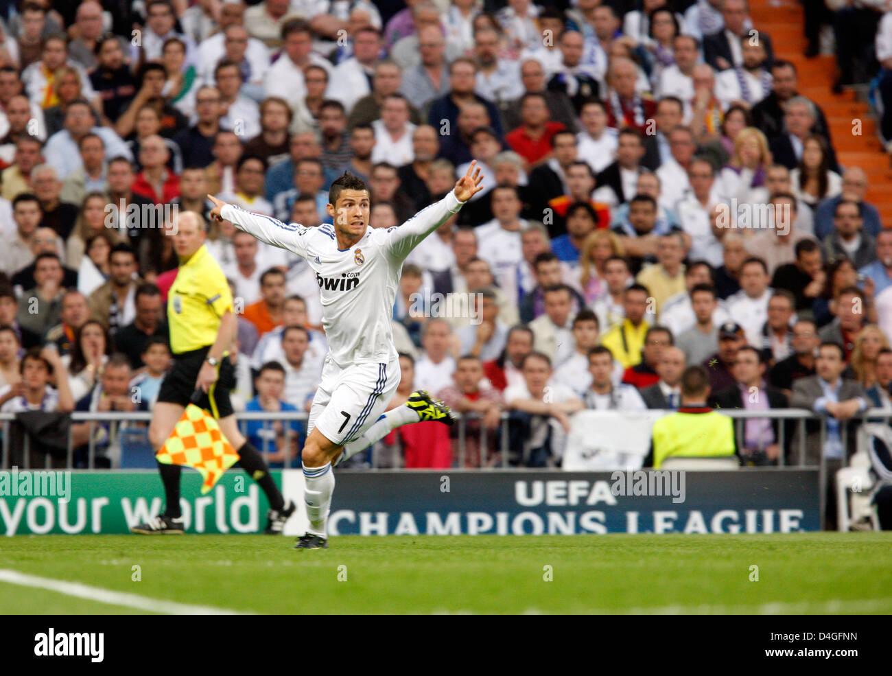 Madrid, Spain, Cristiano Ronaldo, Real Madrid CF, the semifinals of the UEFA Champions League - Stock Image