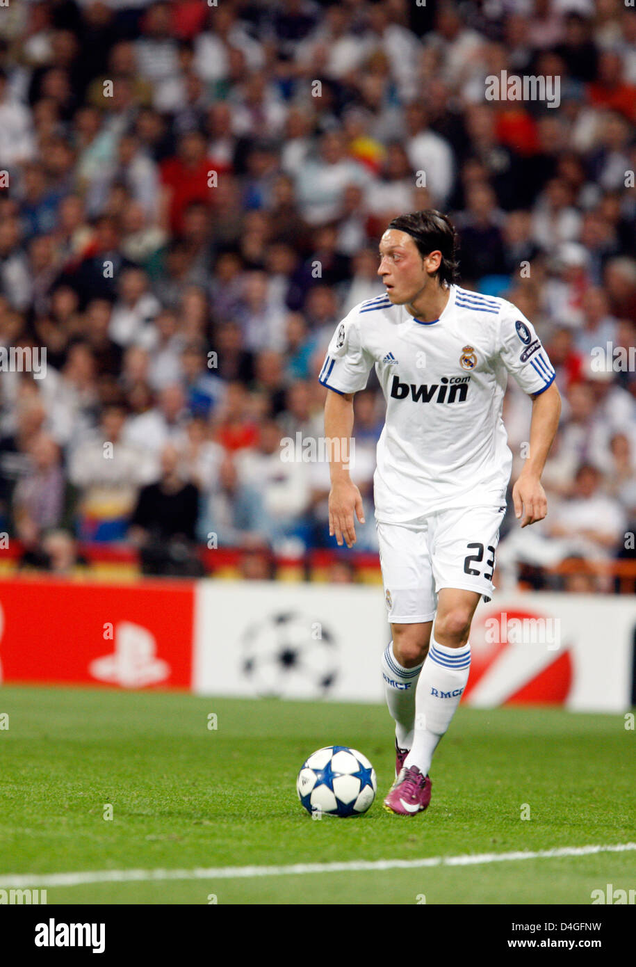 Madrid, Mesut Oezil, Real Madrid CF, the semifinals of the UEFA Champions League - Stock Image