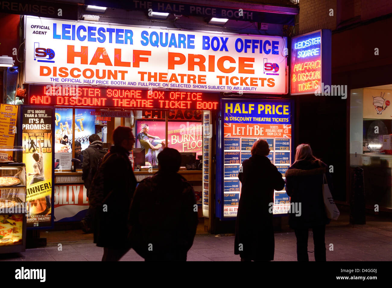 Discount Theatre Ticket booth at Leicester Square London UK - Stock Image