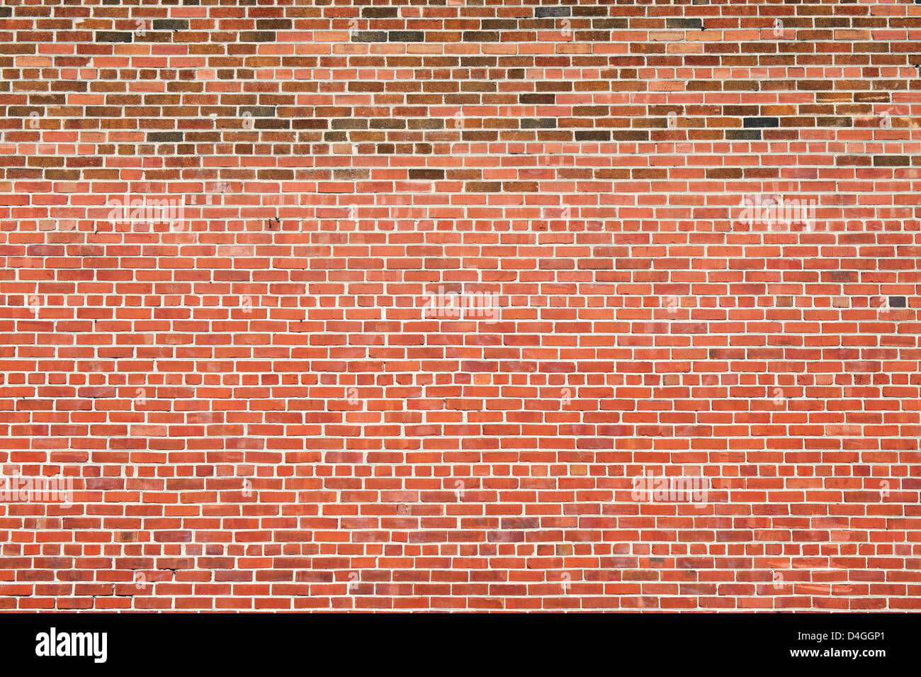 Red brick wall. - Stock Image