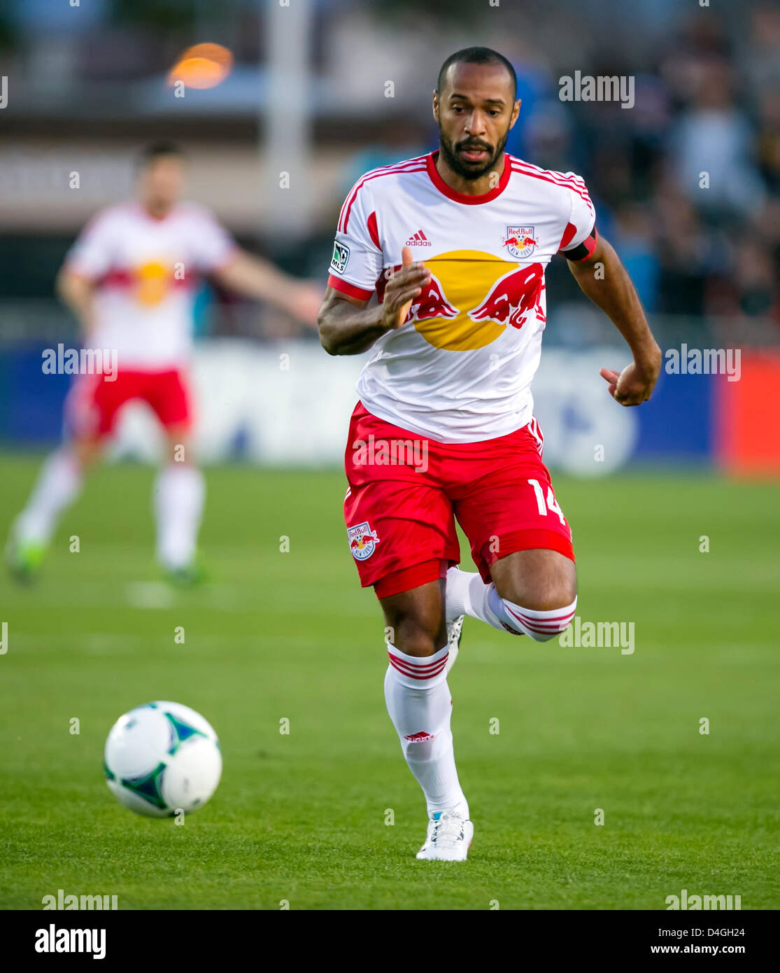 549fe03bc09 March 10, 2013: New York Red Bulls forward Thierry Henry (14) in action  during the MLS game between the New York Red Bulls and the San Jose  Earthquakes at ...