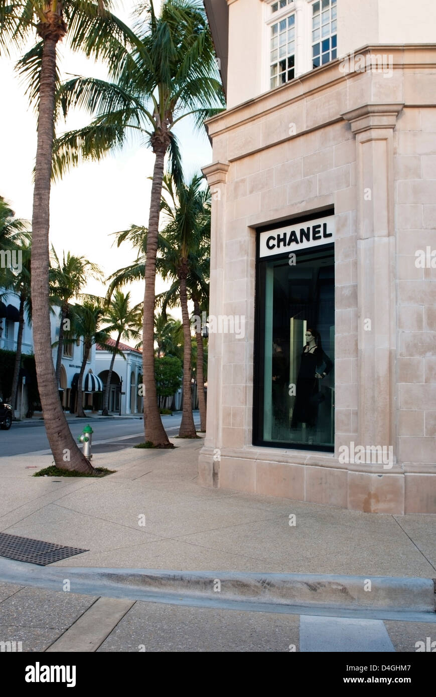 The Chanel store on Worth Avenue, West Palm Beach Florida - Stock Image