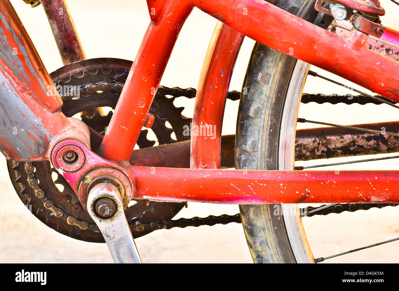 Old Bicycle chain Stock Photo