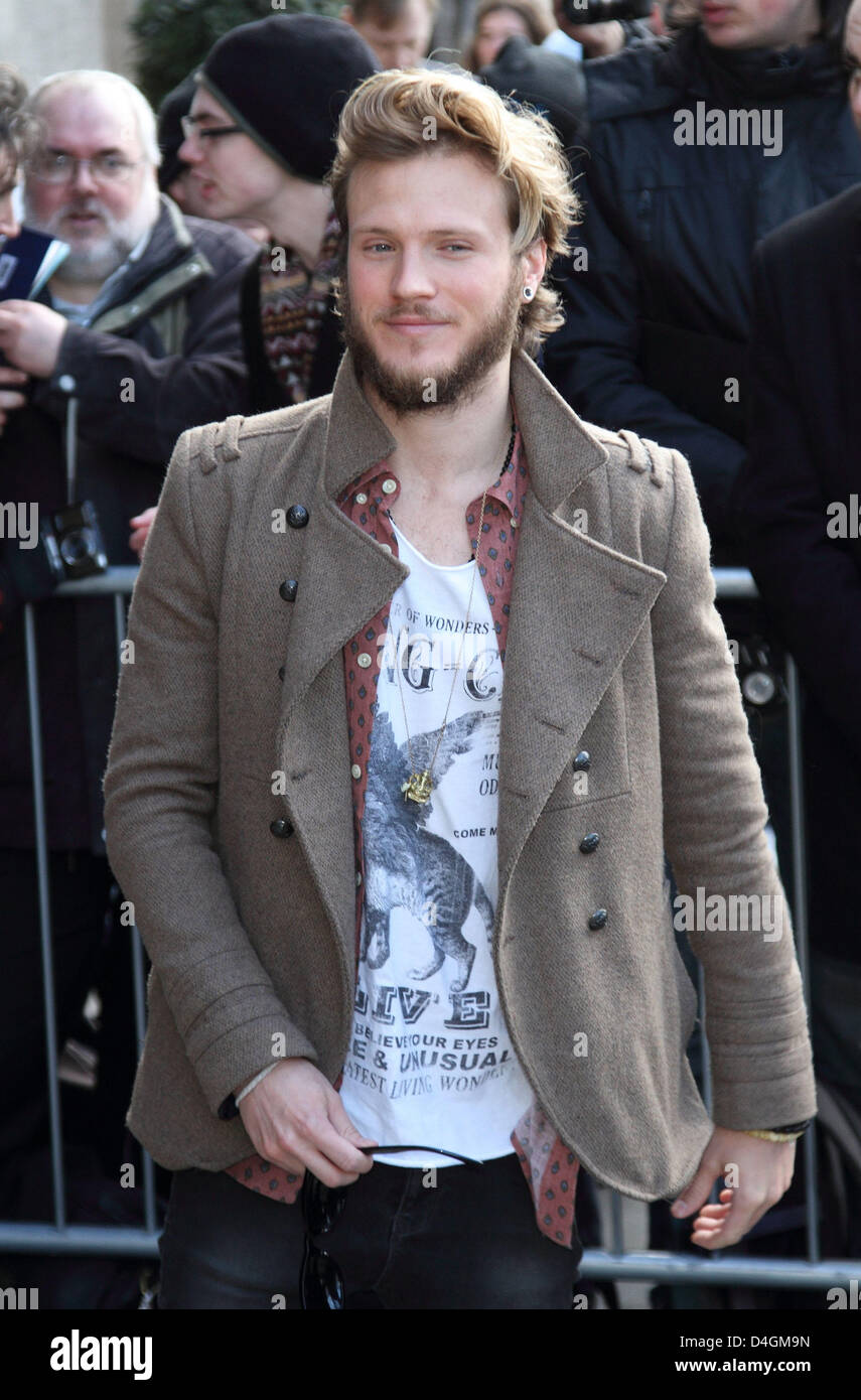 London, UK. 12th March 2013. Dougie Poynter The TRIC Awards 2013 (Television and Radio Industries Club Awards) at Stock Photo