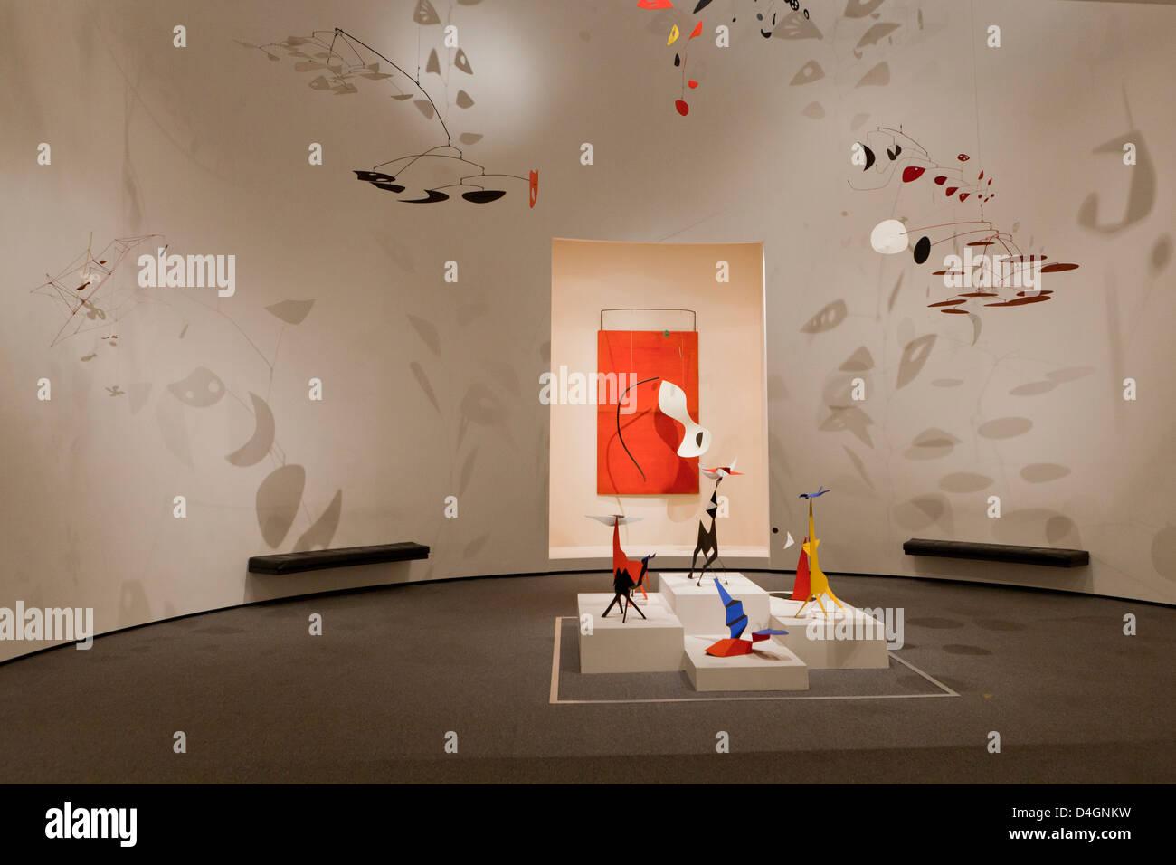 Alexander Calder exhibit at the Smithsonian, National Gallery of Art - Washington, DC USA - Stock Image