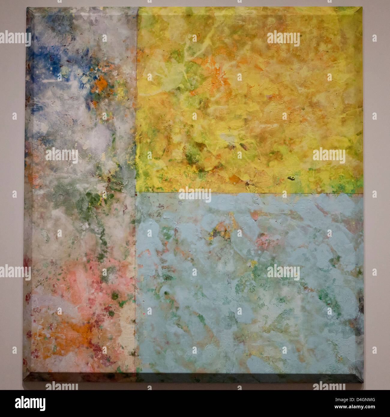Painting for Dorothy Gilliam by Sam Gilliam, 1974 - Stock Image