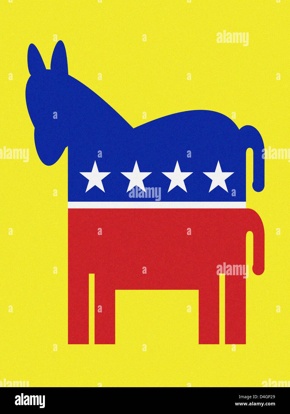 A democratic donkey - Stock Image