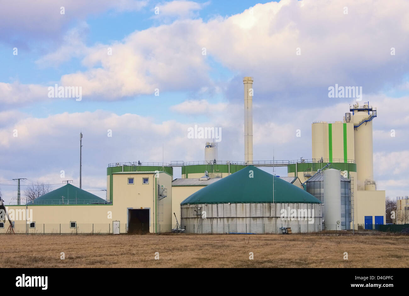 Biogasanlage - biogas plant 86 Stock Photo