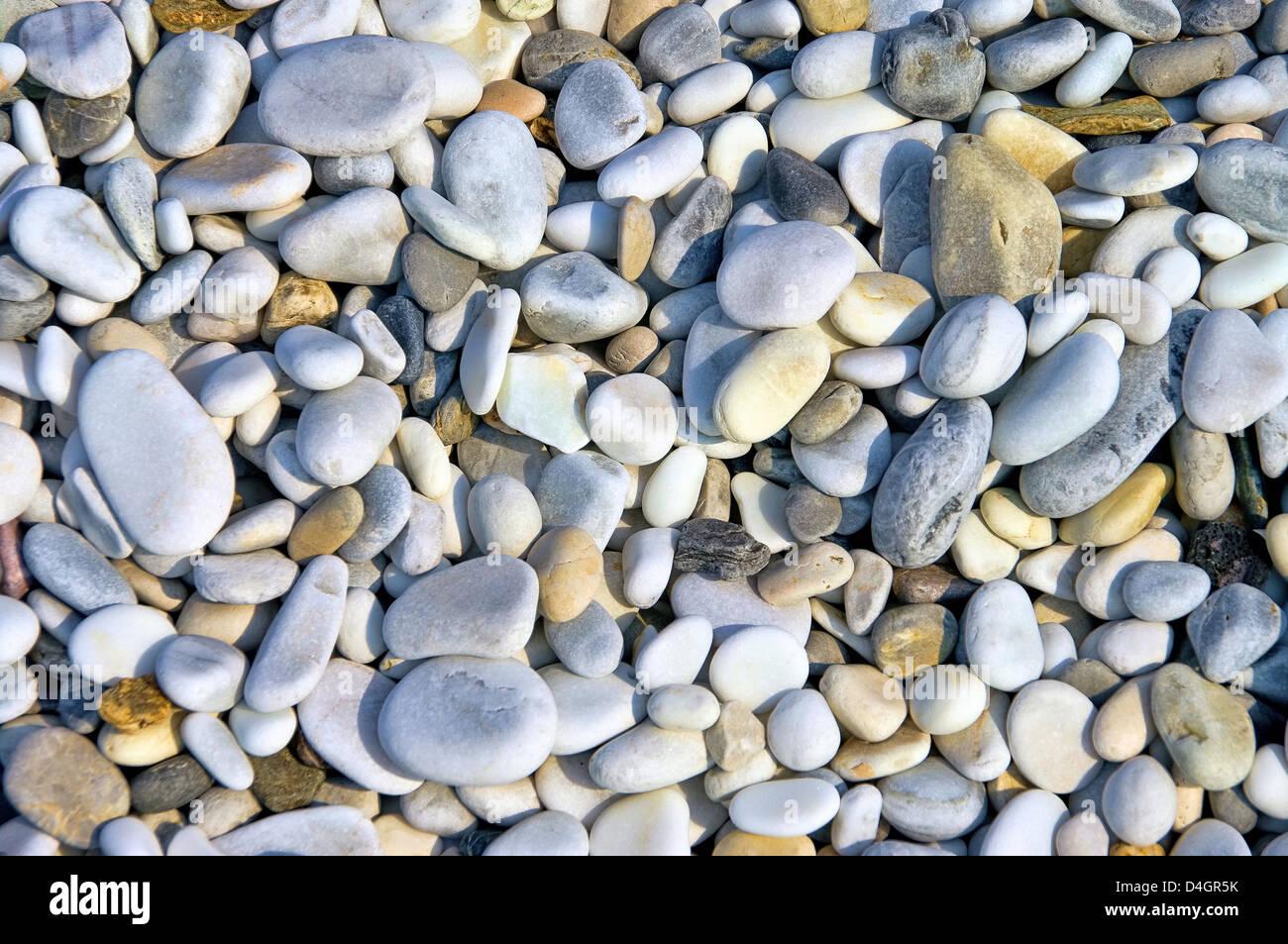 Kieselstrand Toskana - pebble beach Tuscany 07 Stock Photo
