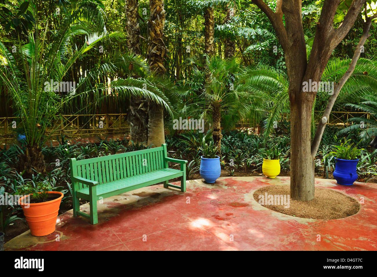 The Majorelle Gardens, Marrakesh, Morocco, North Africa - Stock Image