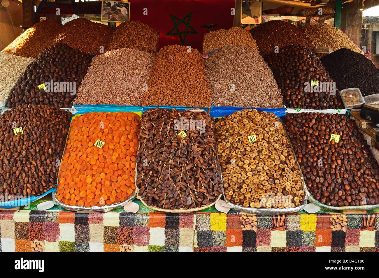 Fruit display, Marrakesh, Morocco, North Africa - Stock Image