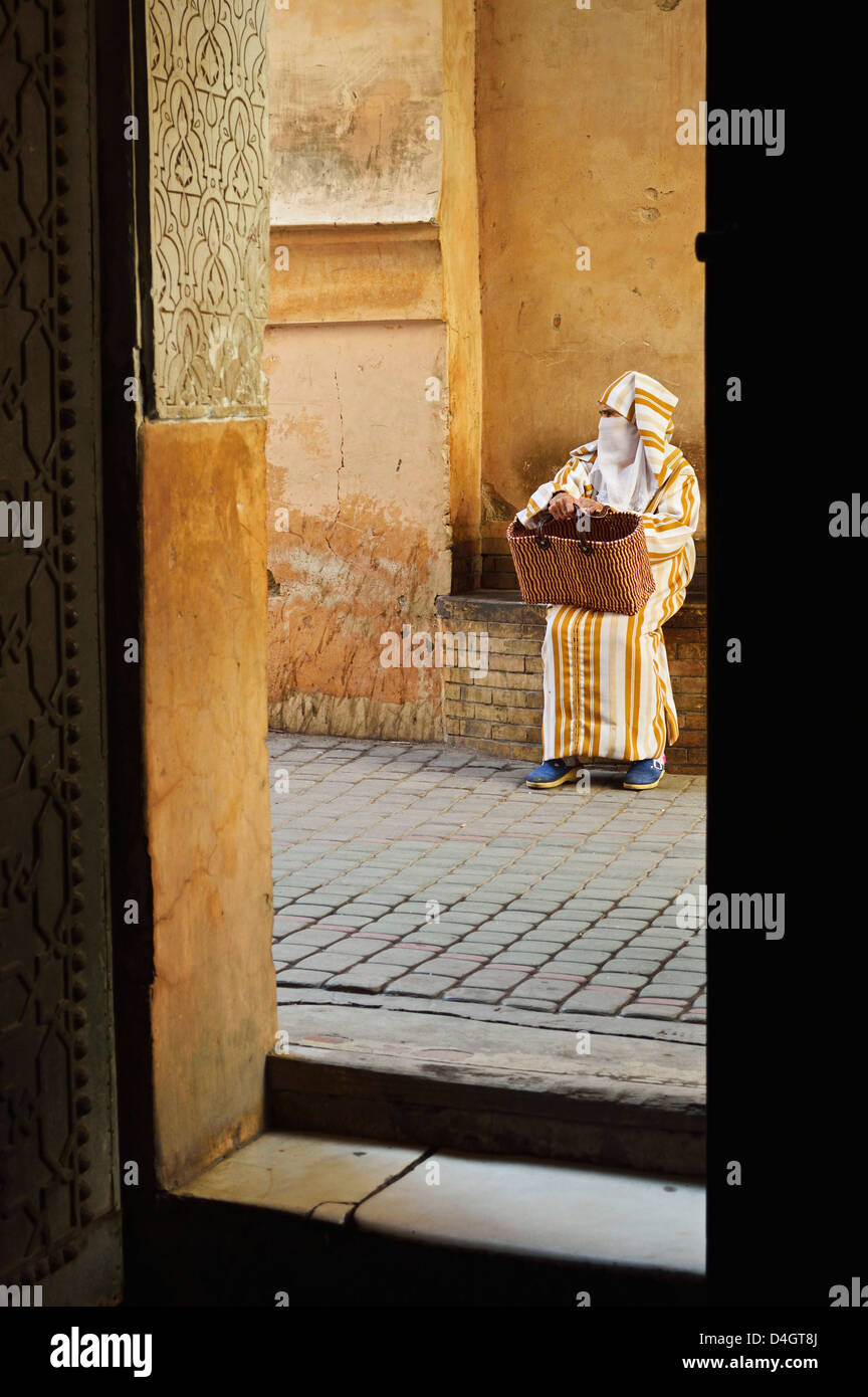 Street scene in the old town, Medina, Marrakesh, Morocco, North Africa Stock Photo