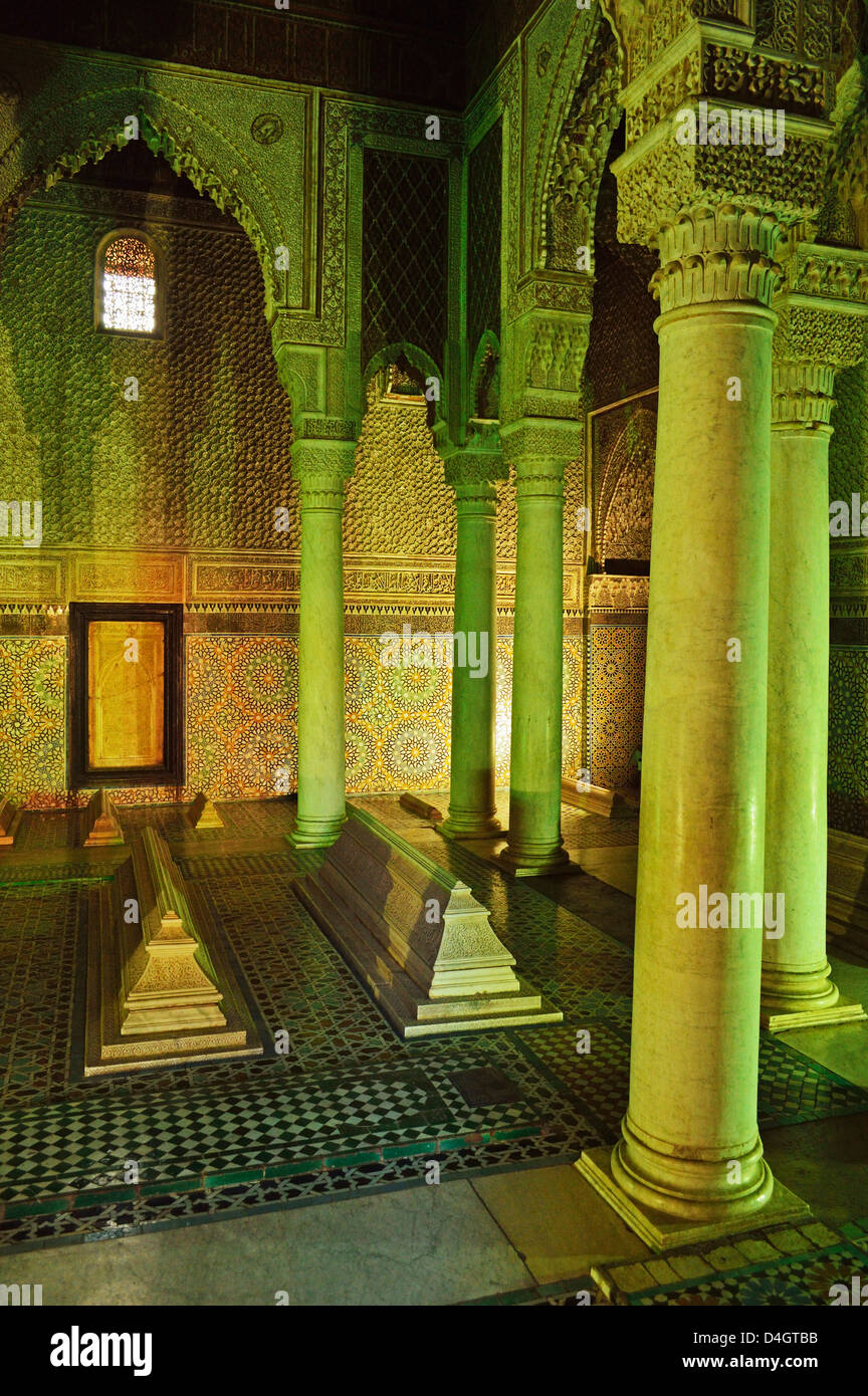 Saadian Tombs, Medina, Marrakesh, Morocco, North Africa Stock Photo
