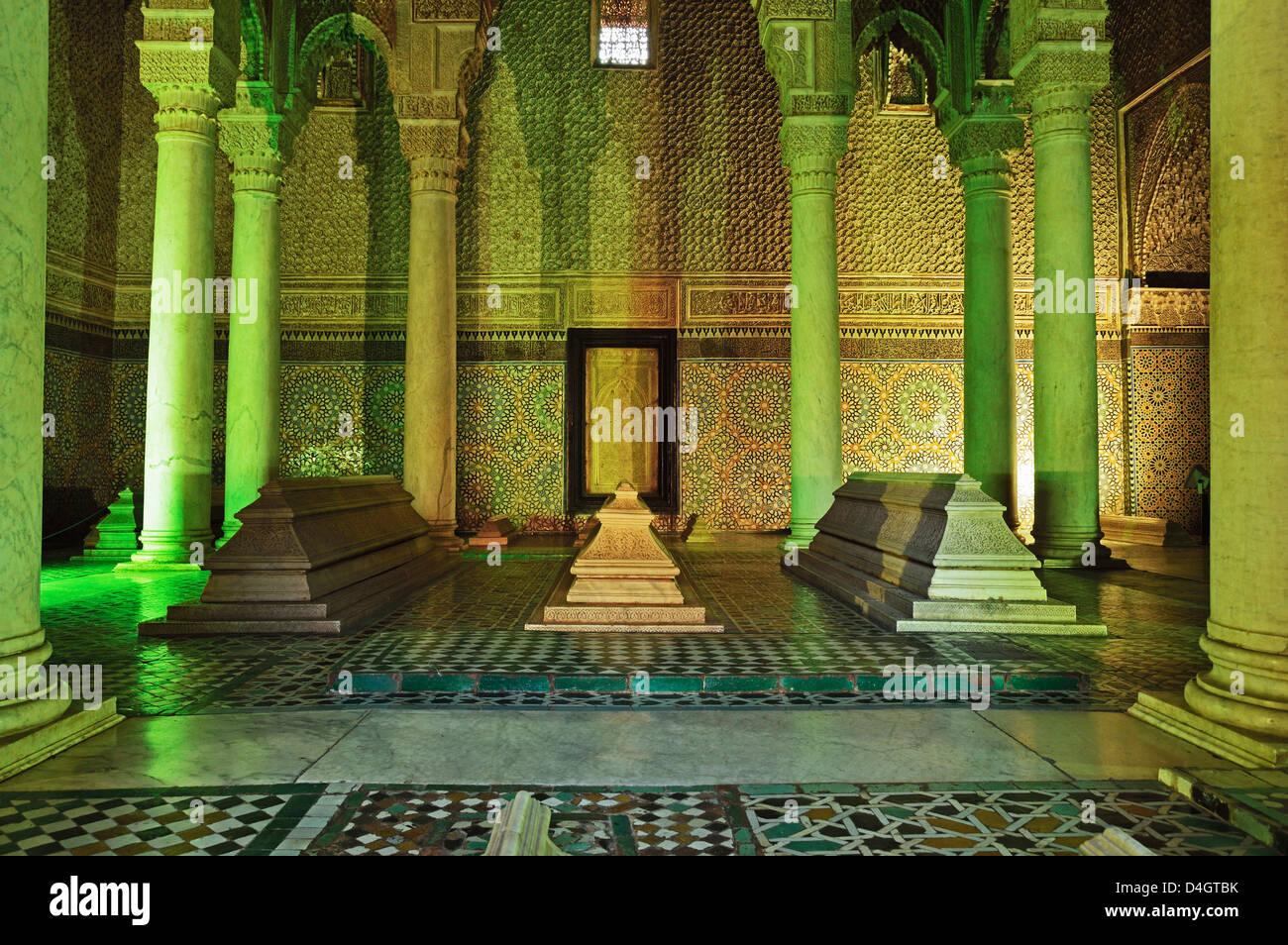 Saadian Tombs, Medina, Marrakesh, Morocco, North Africa Stock Photo