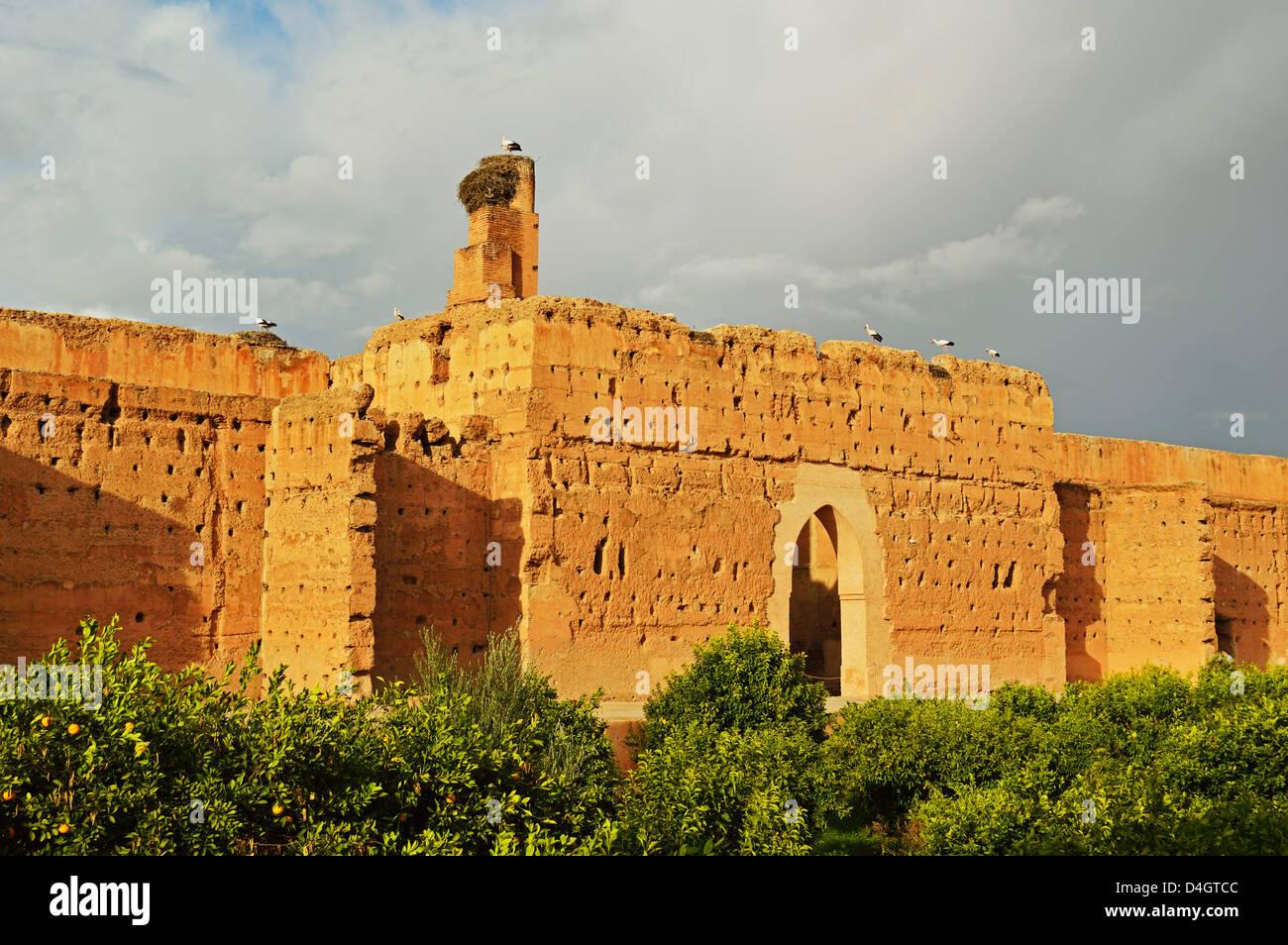 Palais Badi (El Badi Palace), Medina, Marrakesh, Morocco, North Africa Stock Photo