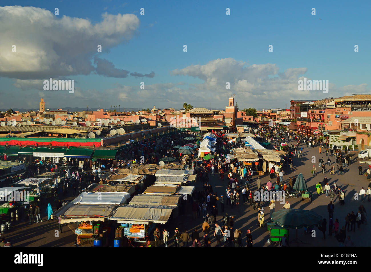 Jemaa El Fna, Medina, Marrakesh, Morocco, North Africa Stock Photo